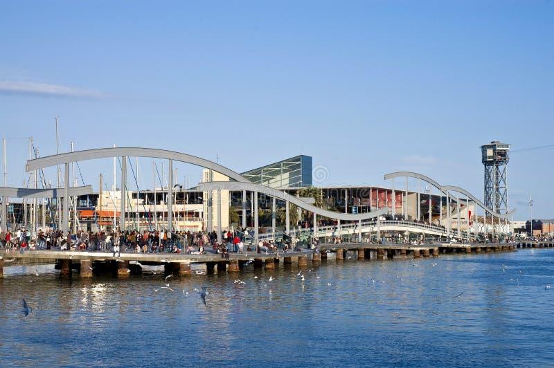 De la Fusta Pier situé à Barcelone, Espagne image stock