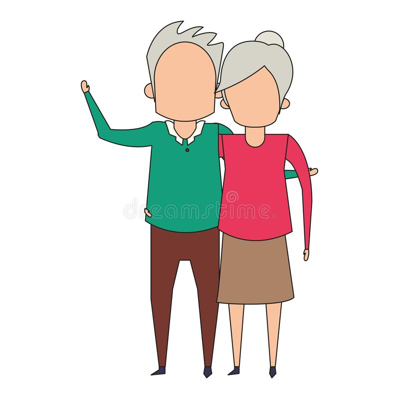 De la historieta de los abuelos personas mayores mayores anónima libre illustration