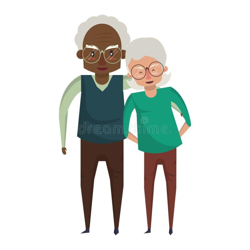 De la historieta de los abuelos personas mayores mayores libre illustration