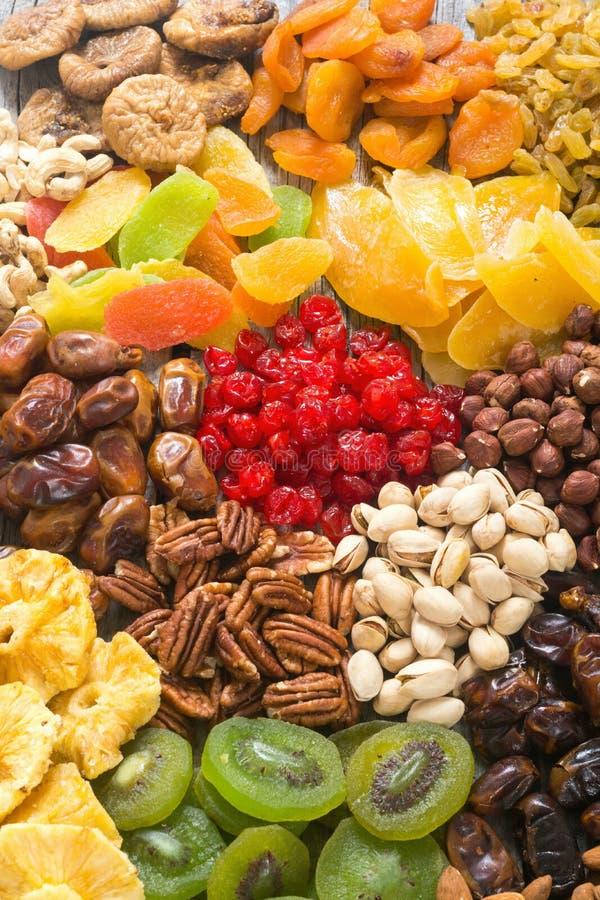 De la mezcla de fruta de las nueces, secado y escarchado imagen de archivo libre de regalías