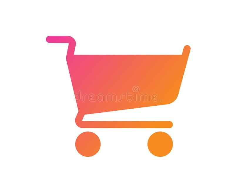 De la pendiente del vector icono plano del carro de la compra del pago y envío en línea libre illustration