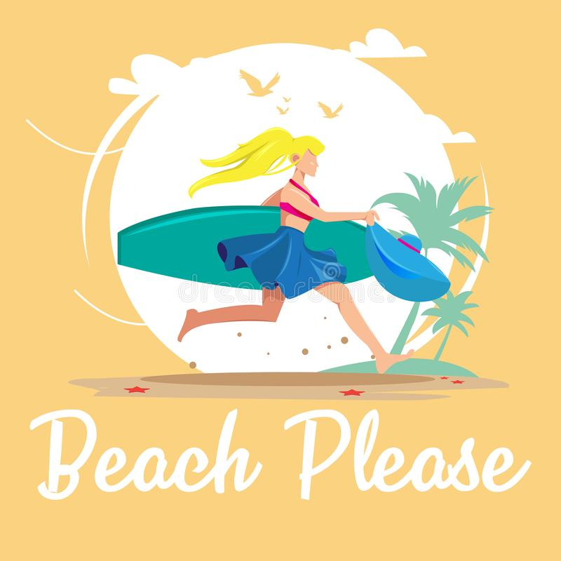 De la playa diseño del vector por favor libre illustration