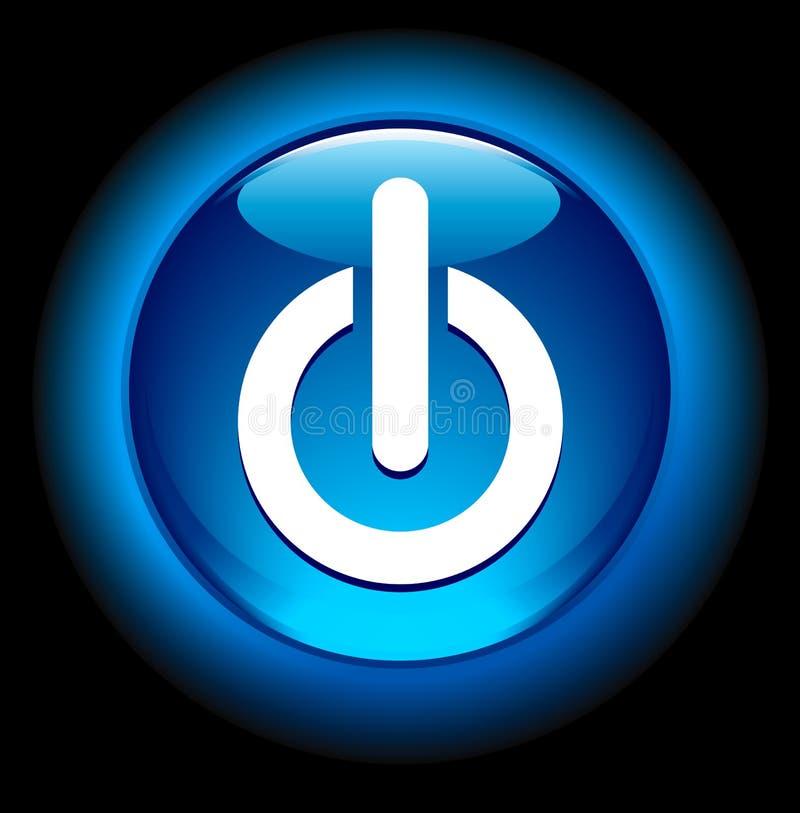 Download De La Potencia Botón Encendido Ilustración del Vector - Ilustración de azul, brillante: 17490750