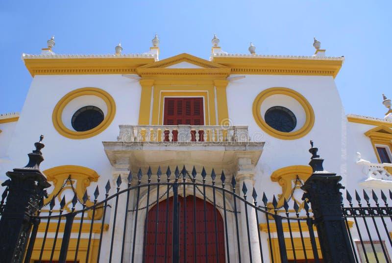 De-La Real Maestranza de Caballeria Plaza de Toros in Sevilla, Spanien stockbild