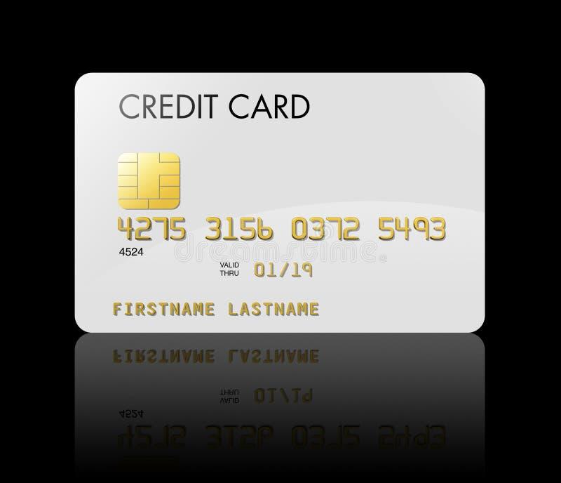 De la tarjeta de crédito blanco libre illustration
