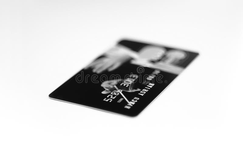 De la tarjeta de crédito (blanco y negro) fotos de archivo