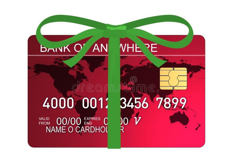 De la tarjeta de crédito con la cinta libre illustration