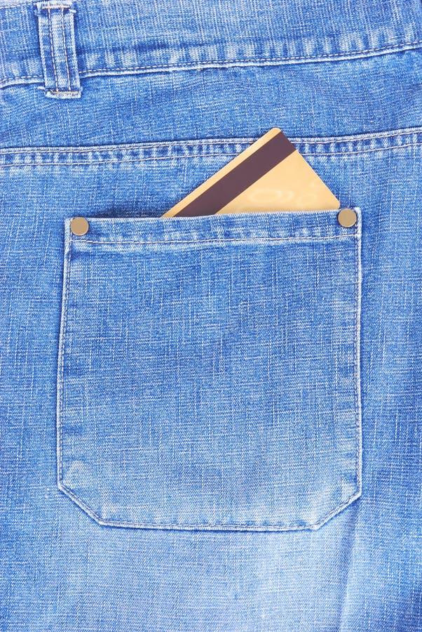 De la tarjeta de crédito en bolsillo foto de archivo