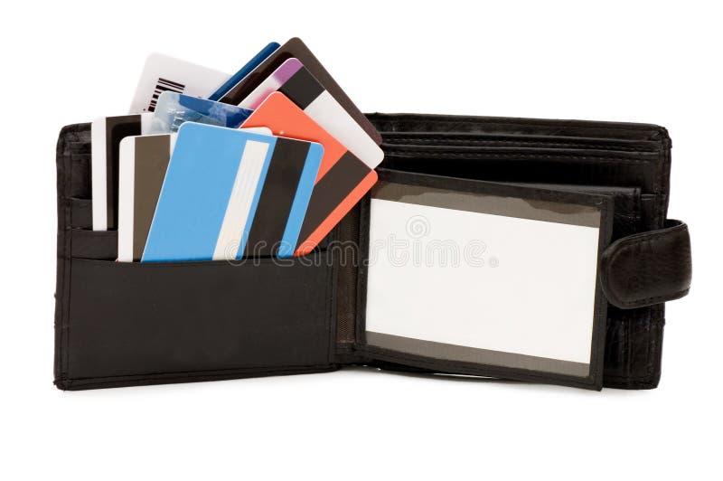 De la tarjeta de crédito en un monedero imagen de archivo libre de regalías