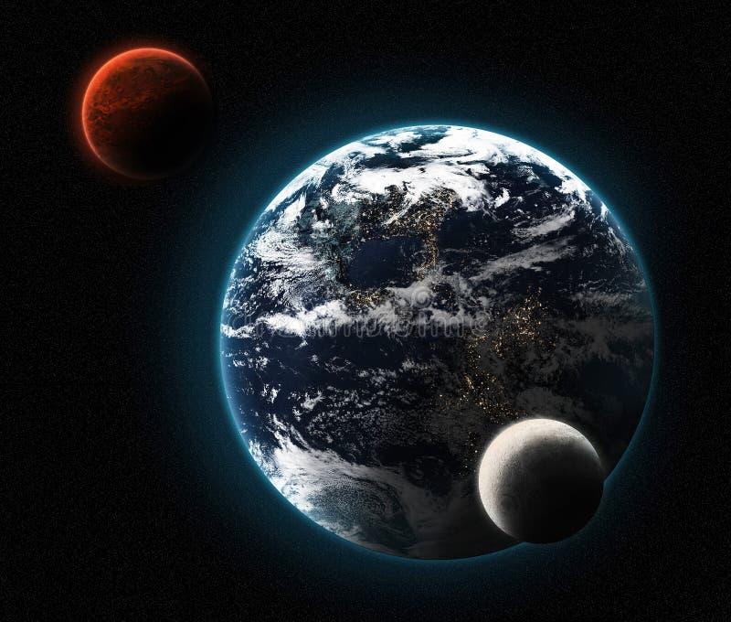 De la terre à Mars illustration stock