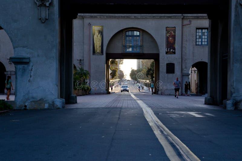 De la visión avenida San Dielgo del EL Prado abajo fotos de archivo libres de regalías