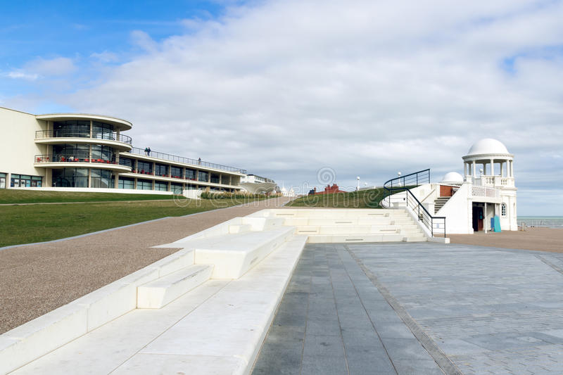 De la Warr Pavilion. At Bexhill-on-Sea, East Sussex England UK royalty free stock images