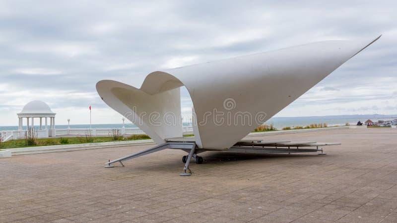 De la Warr Pavilion. Bandstand at the De la Warr Pavilion at Bexhill-on-Sea, East Sussex England UK stock image