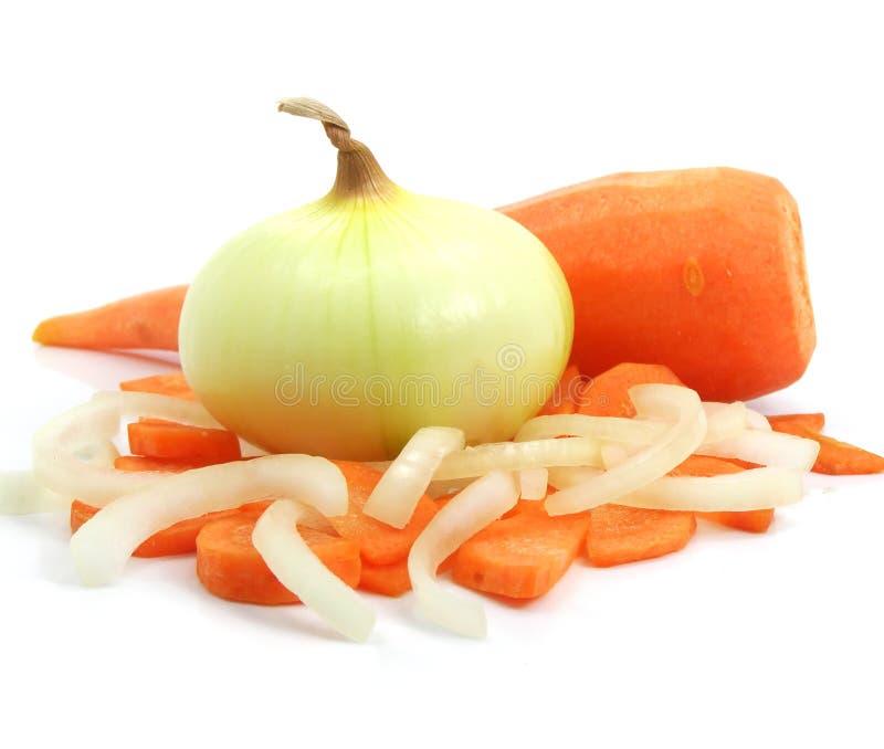 De la zanahoria y de la cebolla todavía de los vehículos vida imagen de archivo libre de regalías