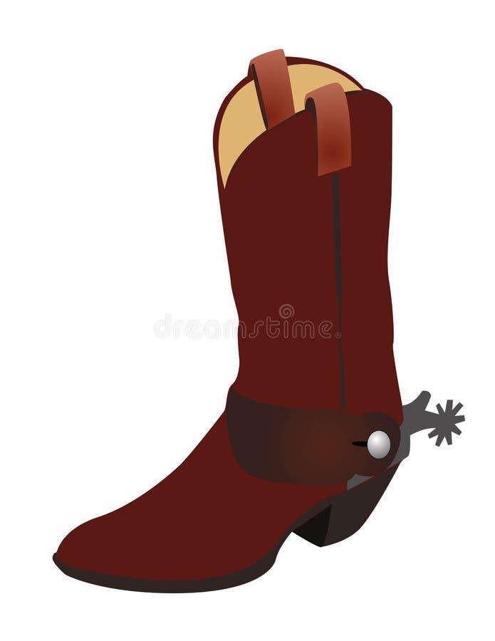 De Laars van de cowboy vector illustratie