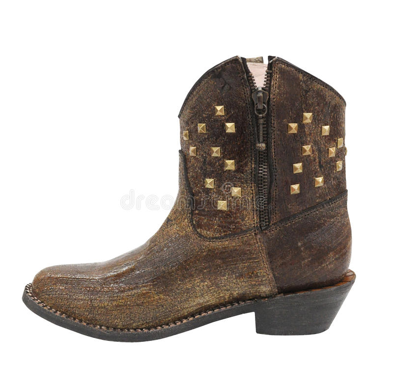 De laars van de vrouwencowboy stock afbeelding