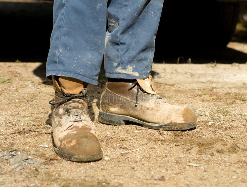 De laarzen van de arbeider royalty-vrije stock foto