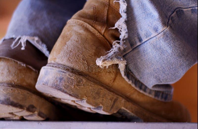 De Laarzen van de bouw stock fotografie