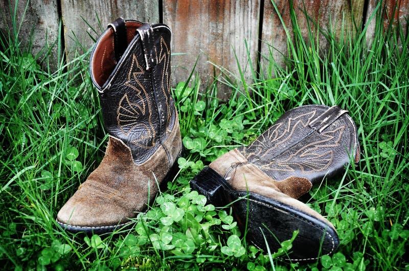 De Laarzen van de cowboy (12_831) stock foto's