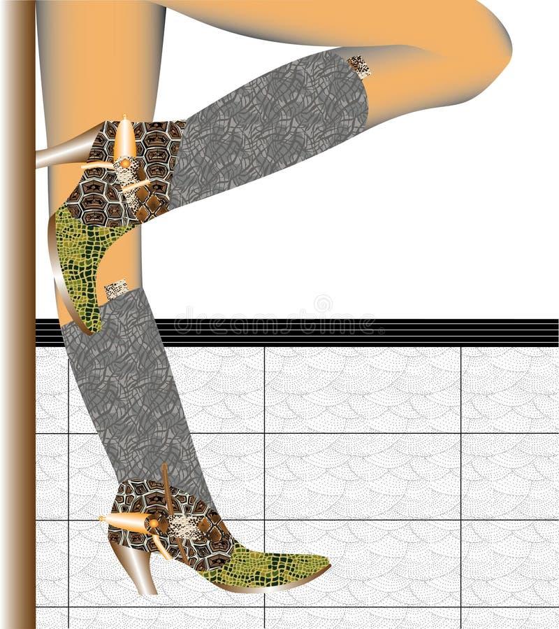 De laarzen van de cowboy royalty-vrije illustratie