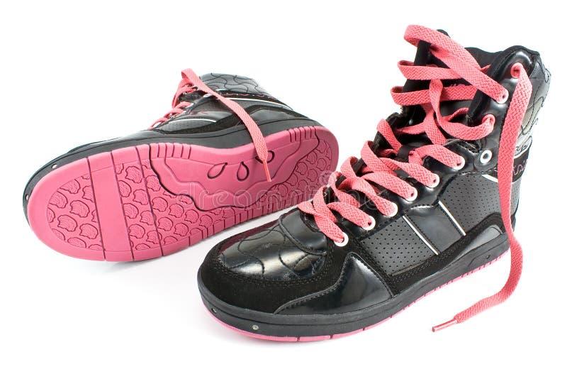 De laarzen van de de wandelingswinter van de vrouw stock afbeelding