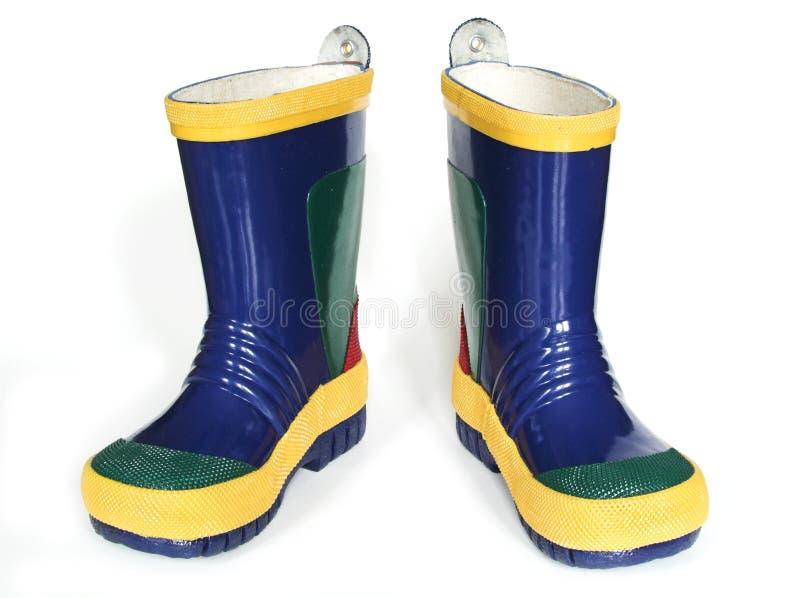 De Laarzen van de regen stock foto