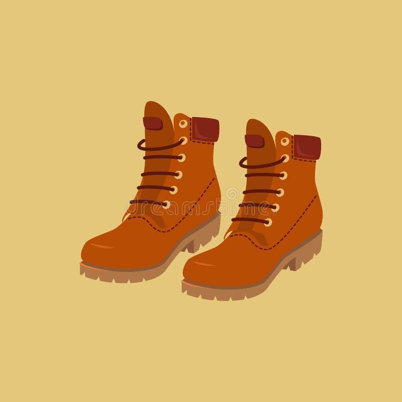 De Laarzen van de wandeling royalty-vrije illustratie