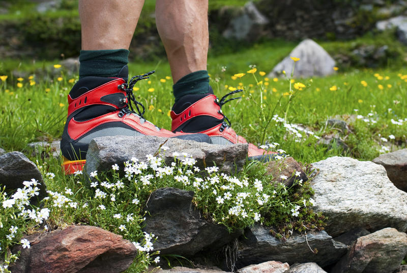 De laarzen van de wandeling stock afbeeldingen