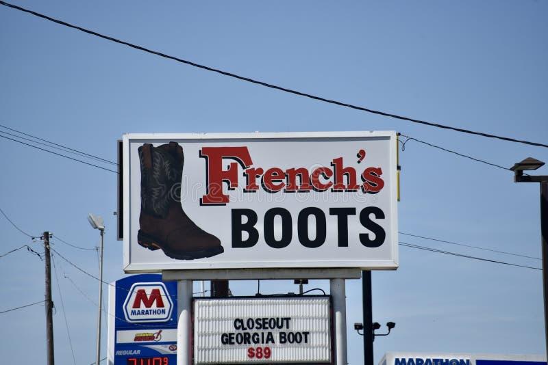 De Laarzen van het Frans, Dickson, TN royalty-vrije stock fotografie