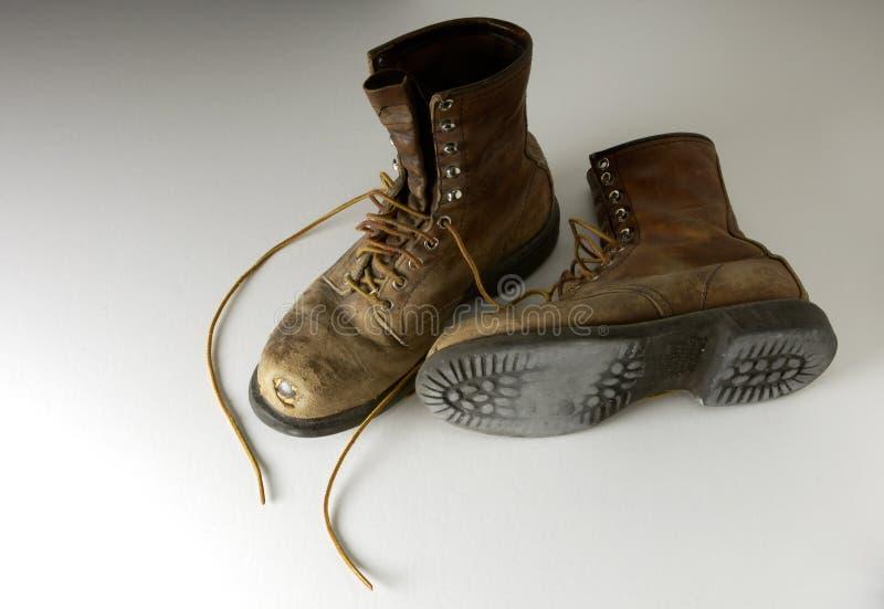 De laarzen van het werk royalty-vrije stock fotografie