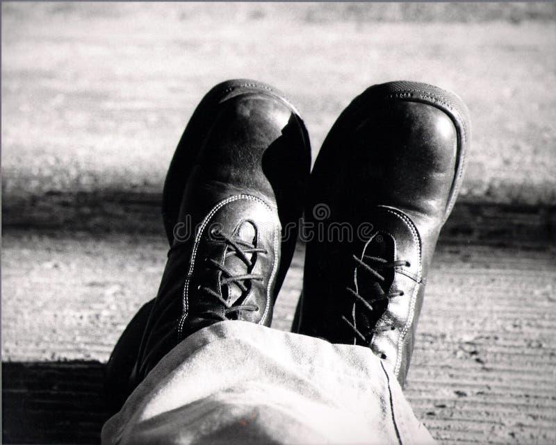 De laarzen van mensen stock afbeelding