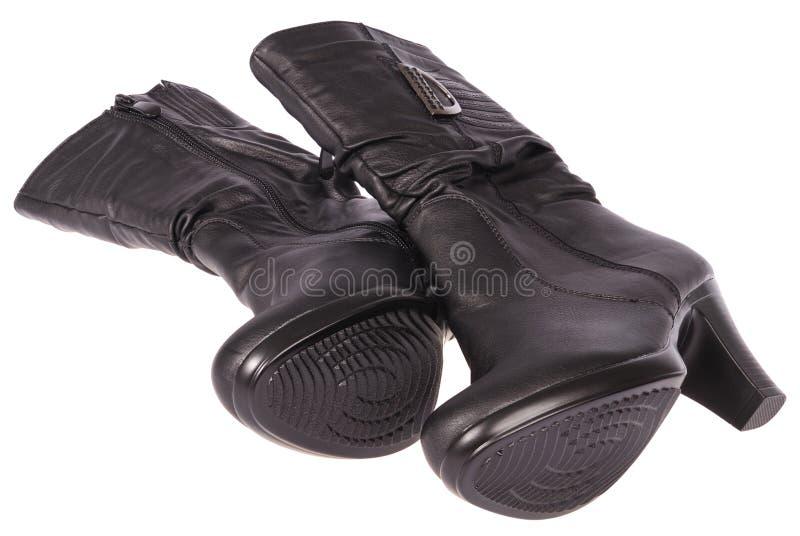 De laarzen van vrouwen (het Knippen weg) royalty-vrije stock afbeelding