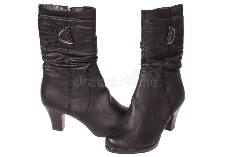 De laarzen van vrouwen (het Knippen weg) royalty-vrije stock foto
