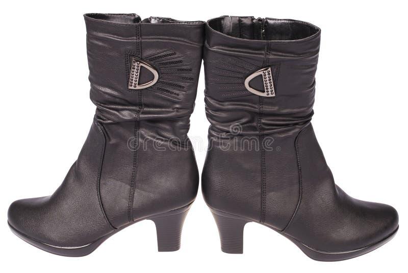 De laarzen van vrouwen (het Knippen weg) stock foto's