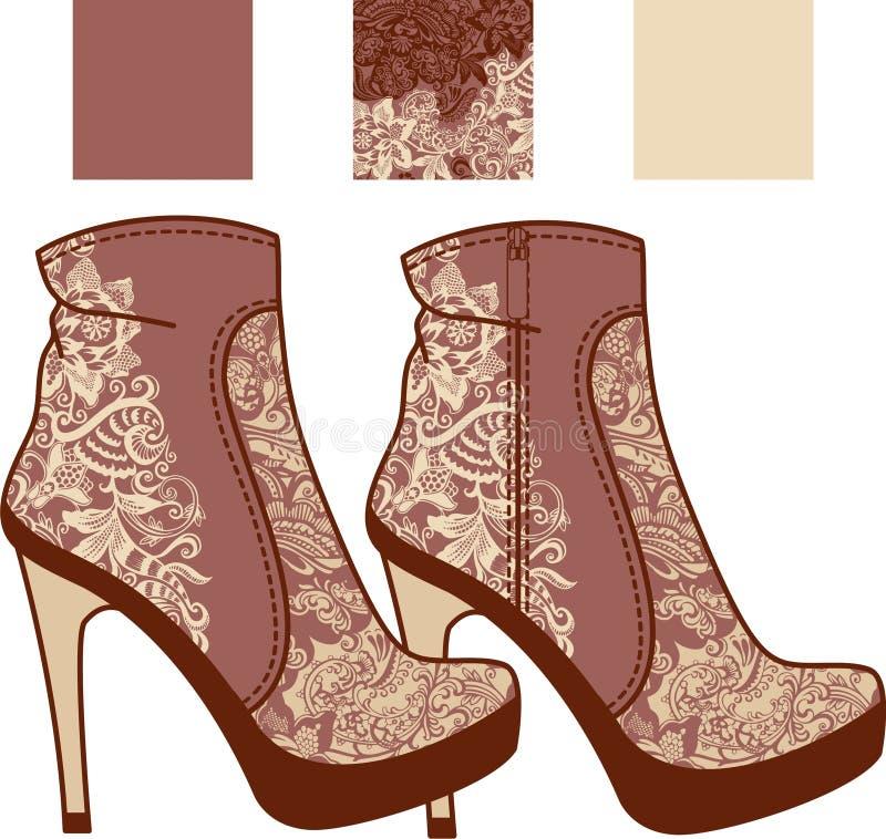 De laarzenkant van vrouwen royalty-vrije illustratie