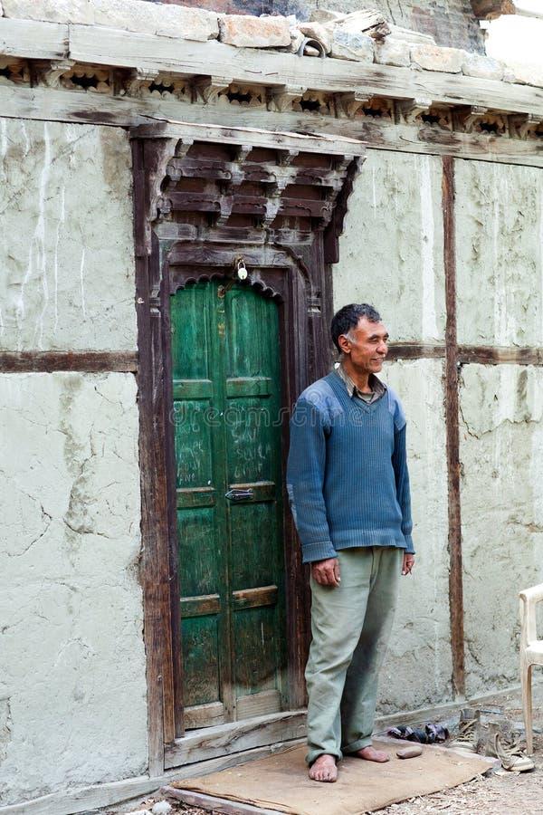 De Laatste Turtuk-Koning, Yagbo Modh Khan Kacho, Ladakh, India stock foto's