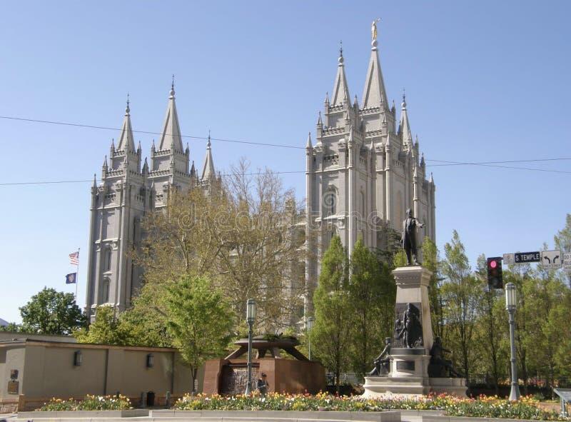 De laatstgenoemde Kerk van Dagheiligen in Tempel Vierkant Salt Lake City stock afbeelding