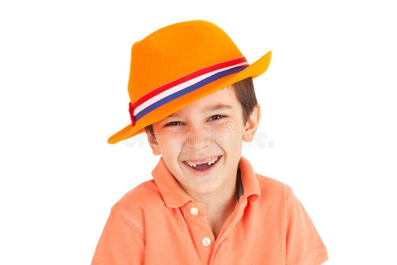 De belachelijke, lachende jongen royalty-vrije stock afbeelding