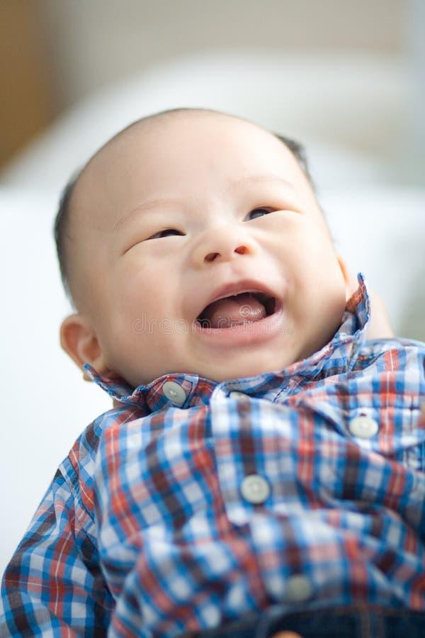 De lachende Oude Baby van 3 Maand royalty-vrije stock foto