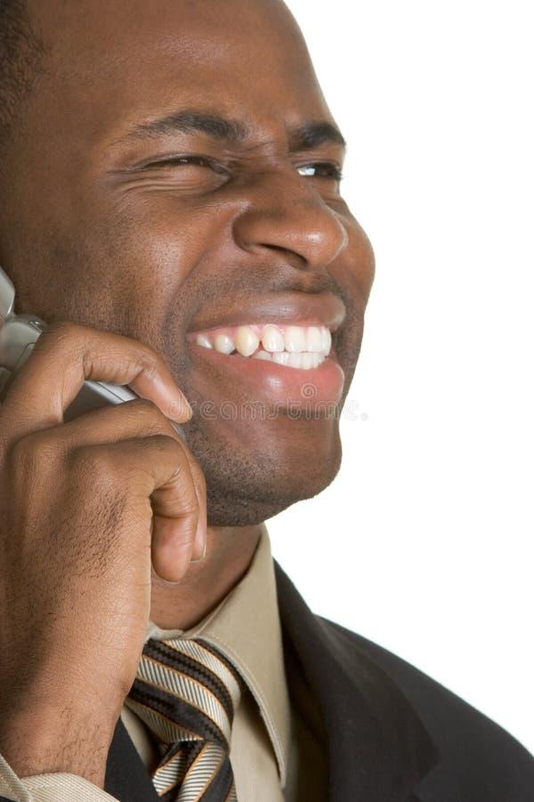 De lachende Persoon van de Telefoon stock fotografie
