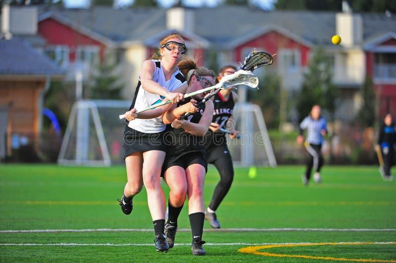 De Lacrosse Die Van Meisjes Ruimteschending Ontspruit Redactionele Fotografie