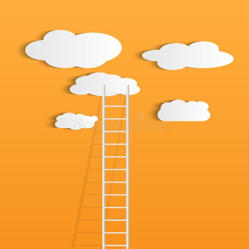 De ladder betrekt Illustratie stock illustratie