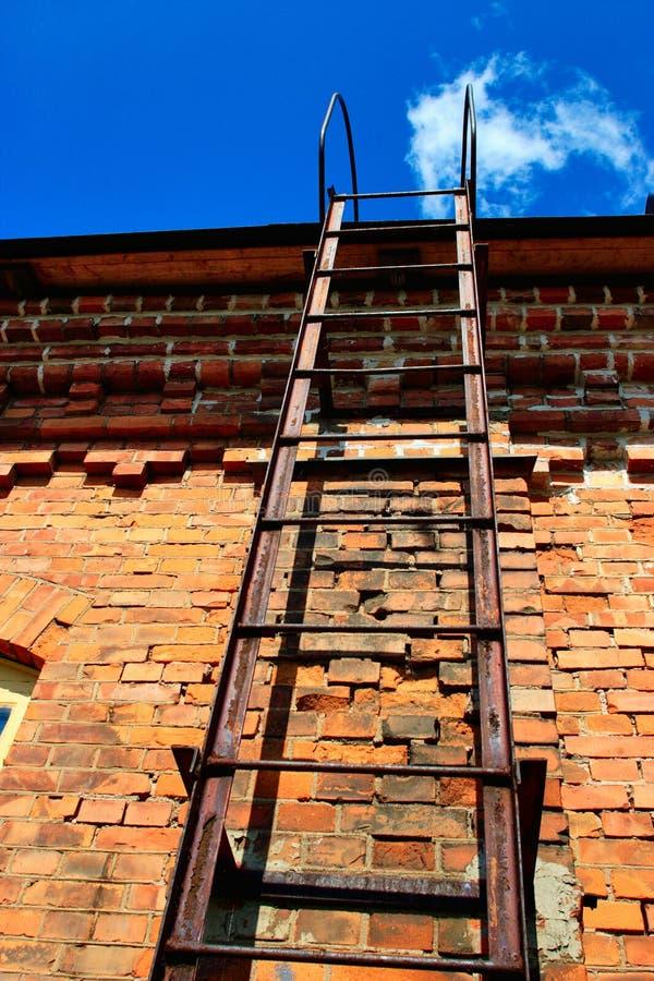 De ladder van de brand stock fotografie