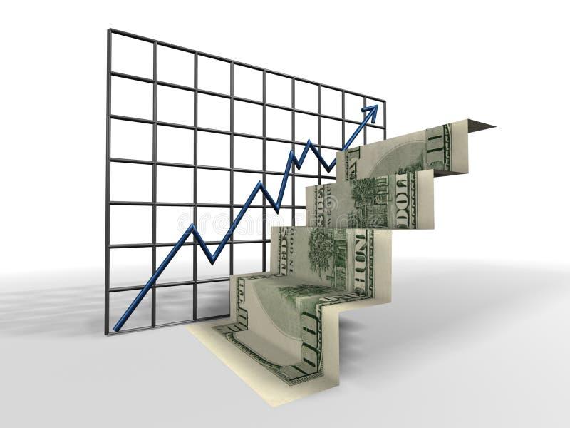 De ladder van de dollar royalty-vrije illustratie