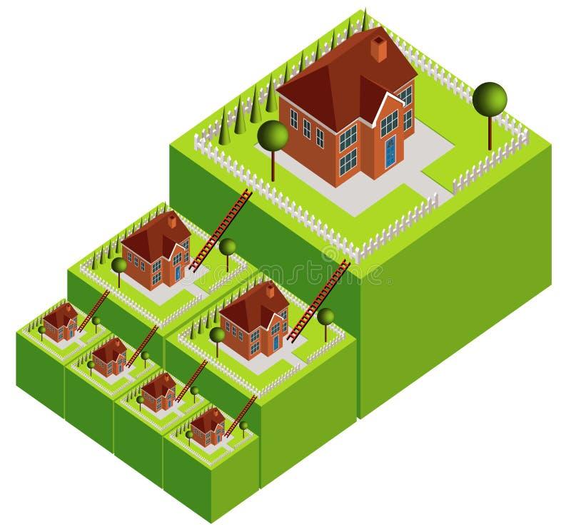 De Ladder van het bezit royalty-vrije illustratie