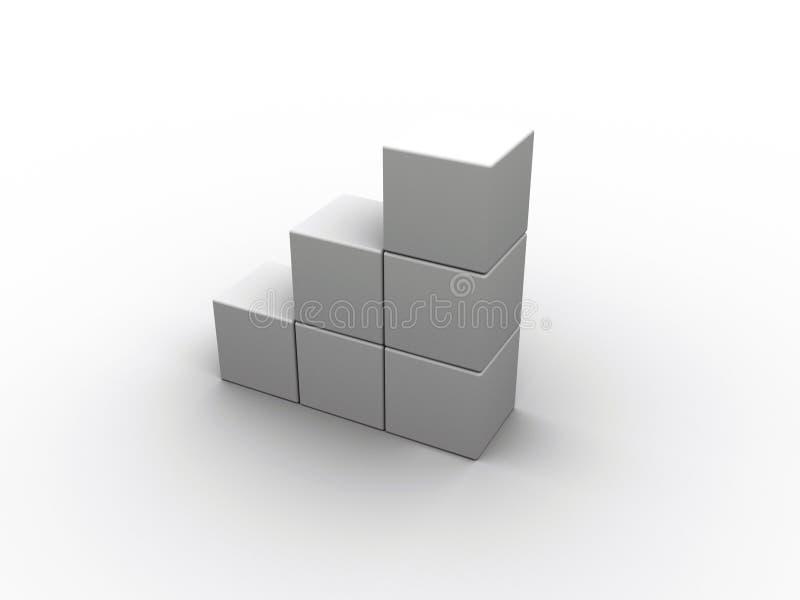 De ladder van kubussen royalty-vrije illustratie