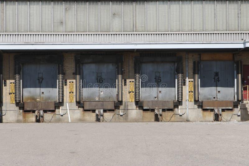 De ladingsdok van de vrachtwagen royalty-vrije stock foto's