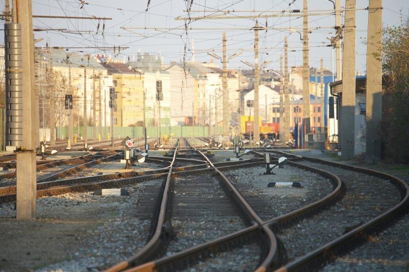 De ladingspost van de spoorweg stock fotografie