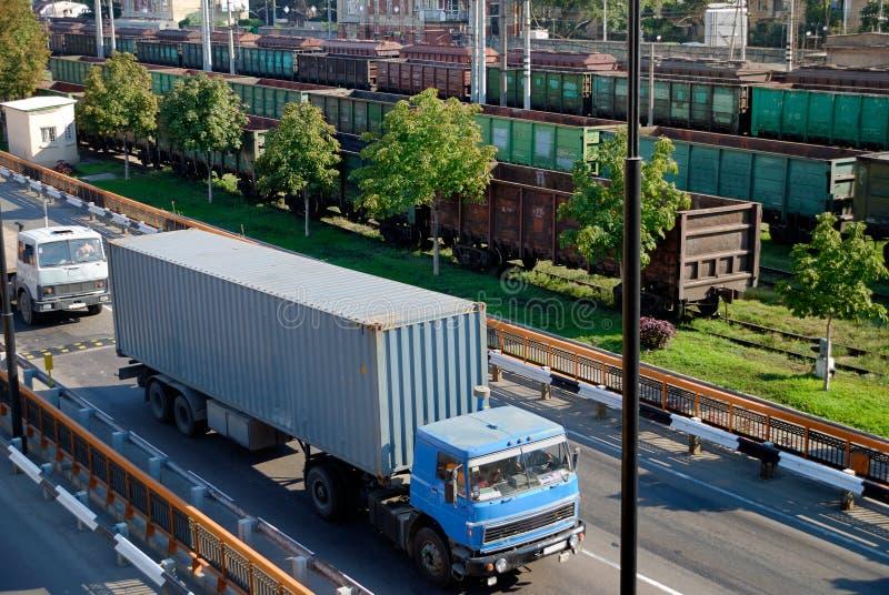 De ladingsverkeer van de vracht stock afbeeldingen
