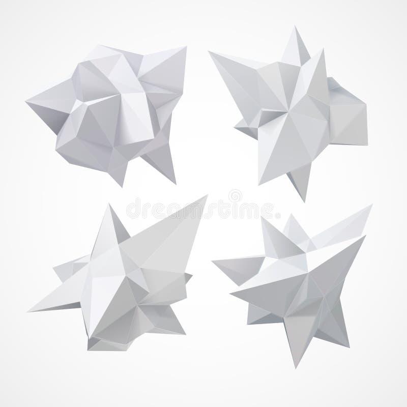 De lage vorm van de veelhoekmeetkunde Vector illustratie stock illustratie